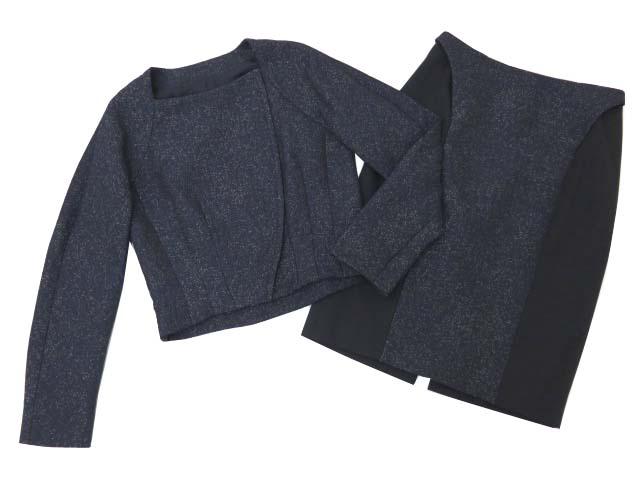 ADEAM ジャケット&スカートセット ネイビー 4 S1 【中古】