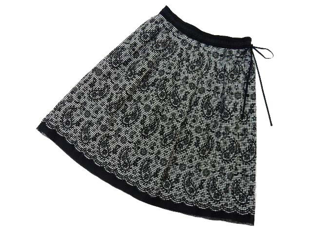 Harrods スカート ブラック×ホワイト 2 A1美品 【中古】