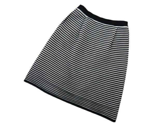Rene ニットスカート ブラック×ホワイト 36 A1美品【中古】