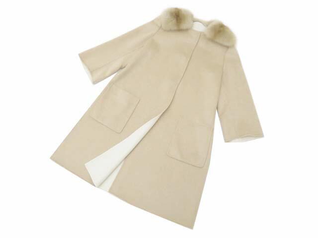 FOXEY BOUTIQUE 36143 Coat(Sainthonore) トップベージュ 42 S1【中古】