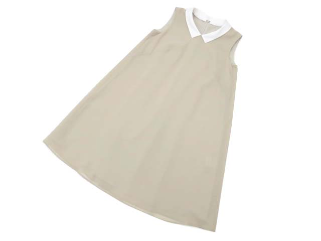 Rene basic ドレス(アイリス) ベージュ×ホワイト 34 S2【中古】