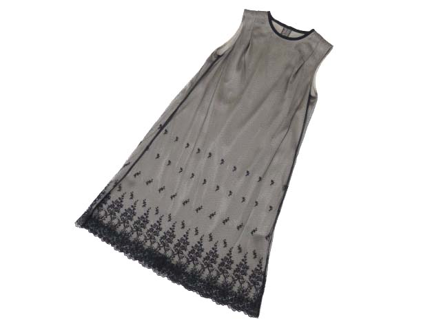 FOXEY BOUTIQUE 35797 Dress(Shiny Lace) ブラックブラック 38 S1【中古】