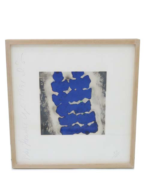 Jim Dine 「Blue Flower」 A1【中古】