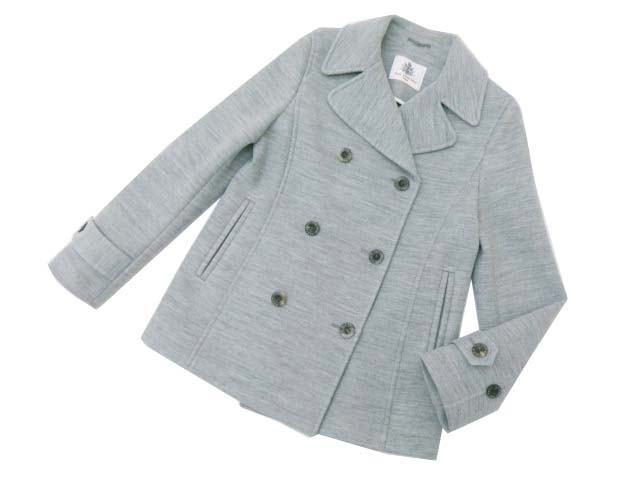 OLD ENGLAND ミランボンディングPコート グレー 36 S2【中古】