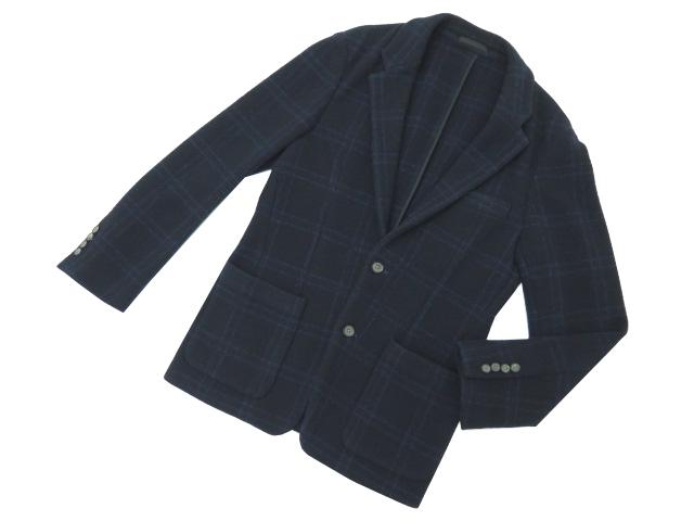 TOMORROWLAND ツイードジャケット ネイビー 48 A1【中古】