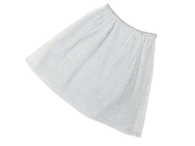 FOXEY BOUTIQUE 35702 Skirt(Cotton Candy) アイスグレー 42 A1 【中古】