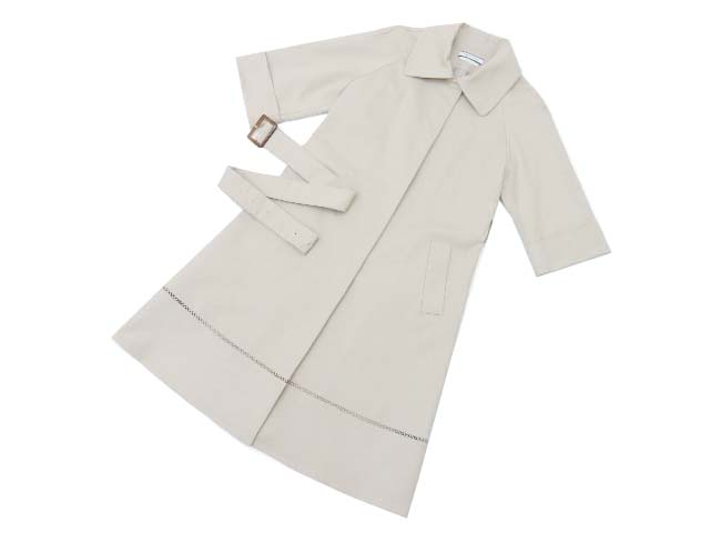 FOXEY NEW YORK collection 36593 Double-face Cotton Trench ベージュ 38 S2【中古】