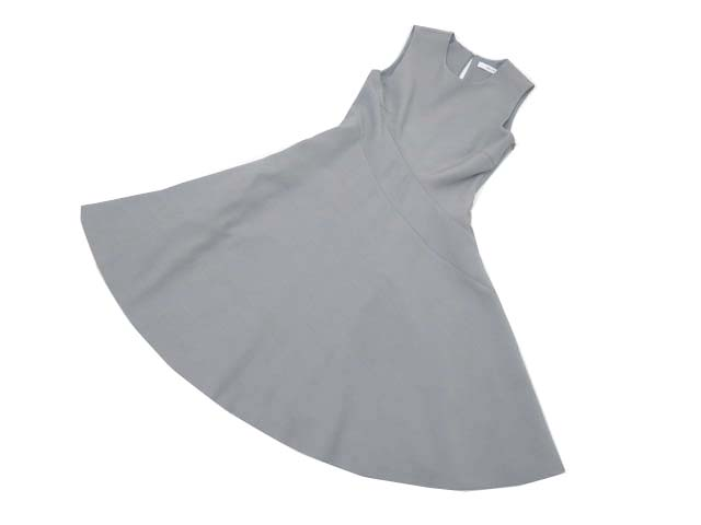 ADEAM 36359 Side Flounce Tie Dress グレー 2 A1美品【中古】
