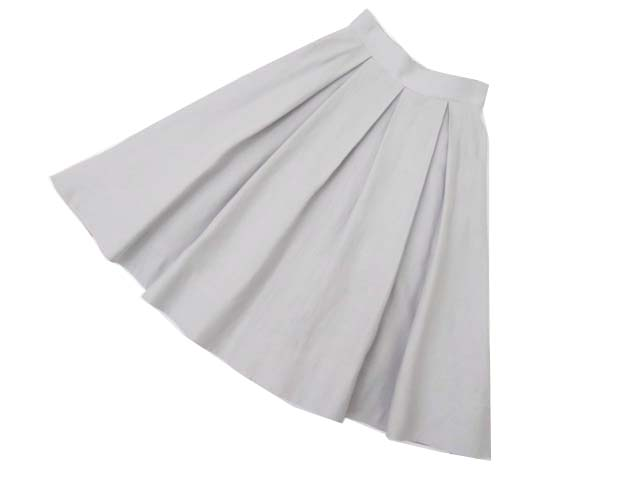 FOXEY BOUTIQUE 36910 A-Line Pleated Skirt グレー 38 S2【中古】