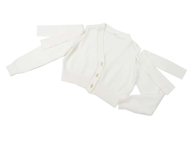 ADEAM 36931 Tied Shooulder Cardigan ホワイト 0 S2【中古】