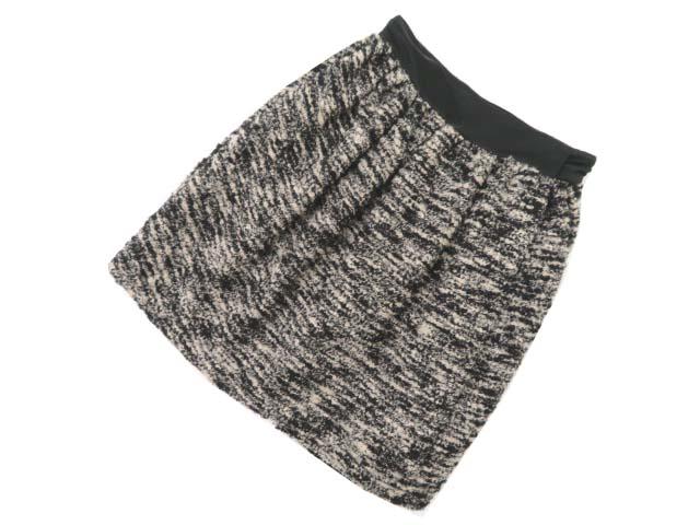 Christian Dior ツイード巻きスカート ブラック×ベージュ 38 A1【中古】
