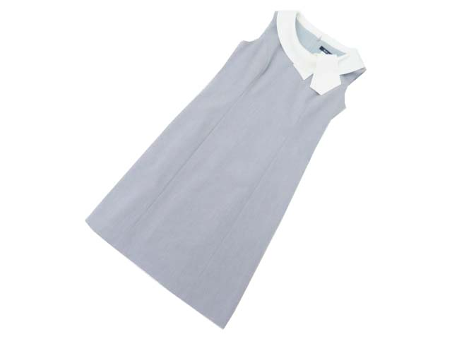 Rene basic Dress(パーフェクトA) グレー×ホワイト 38 S2【中古】