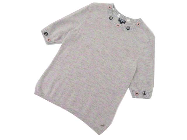 CHANEL PULLOVER GREY/LILAC 40 A1美品【中古】