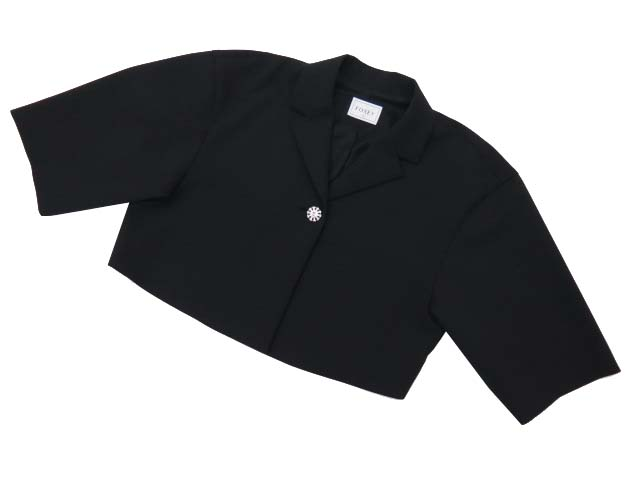 FOXEY BOUTIQUE 36916 Semi Sleeve Boxy Jacket ブラックブラック 40 S1【中古】