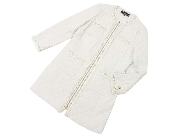 Salvatore Ferragamo キルティングコート オフホワイト 46 A1【中古】
