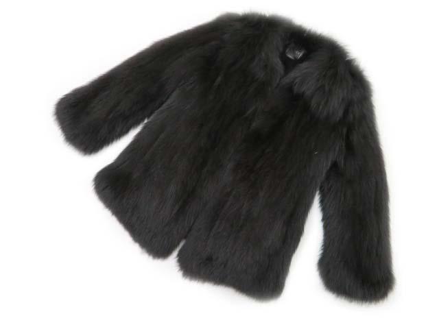 FOXEY BOUTIQUE 33242 FOX FUR COAT ブラック F A1美品【中古】