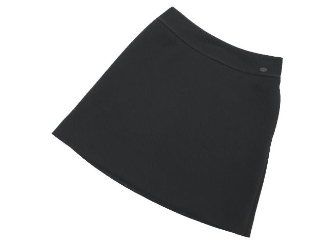 FOXEY NEW YORK 35267 スクエアジャガードスカート ブラックブラック 38 A1【中古】