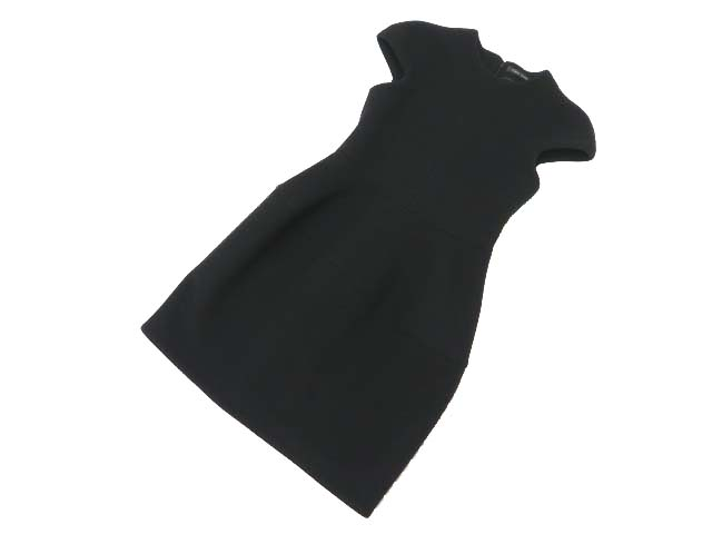 YOKO CHAN CAP SLEEVE BALLOON DRESS ブラック 38 A1美品【中古】