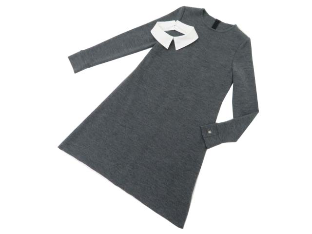 FOXEY BOUTIQUE 37125 Knit Dress(Marion) ミディアムグレー 40 A1【中古】