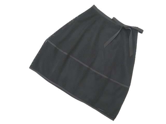 Rene basic メッシュコクーンスカート ブラック 36 A1【中古】