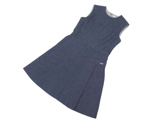 FOXEY NEW YORK 35808 Dress INDIGO 40 S2【中古】