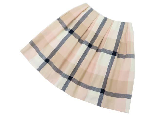 BLUE LABEL スカート ライトピンク系×ベージュ系×ネイビー×オフホワイト 40 S1【中古】
