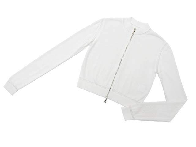 ADEAM 33924 FILAMENT ZIP SWEATER ホワイト 0 A1美品【中古】