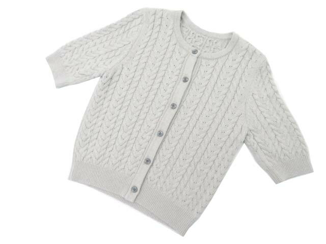 FOXEY BOUTIQUE 38641 Cardigan ライトグレー 40 S1【中古】