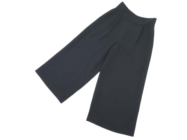 FOXEY BOUTIQIE 37476 Wide Pants ミッドナイトブルー 42 A1美品【中古】