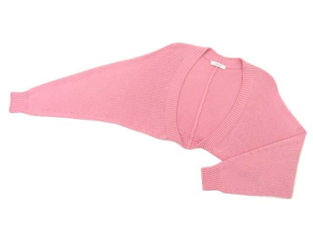 6/15(金)21:30から販売開始!!!ADEAM 38035 Opal Green Cropped Knit Snug ピンクダリア #F A1美品【中古】