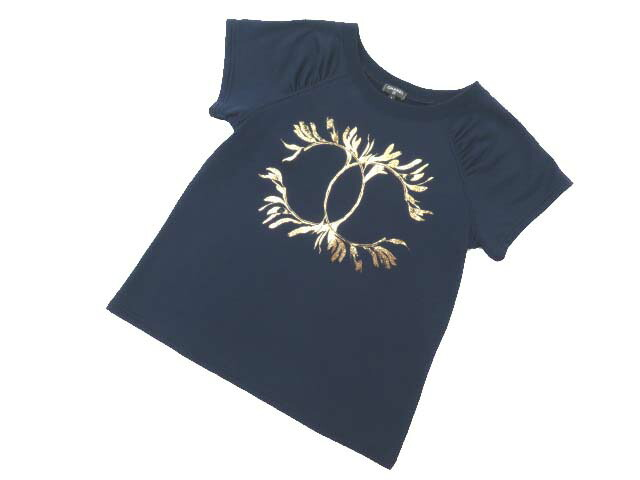 6/16(土)21:30から販売開始!!!CHANEL TEE-SHIRT COTTON NAVY #S S2【中古】