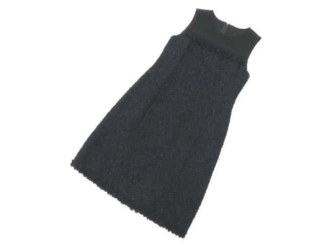 6/20(水)21:30から販売開始!!!FOXEY BOUTIQUE 35558 Dress(Classic Tweed) ブラックブラック 42 A1 【中古】