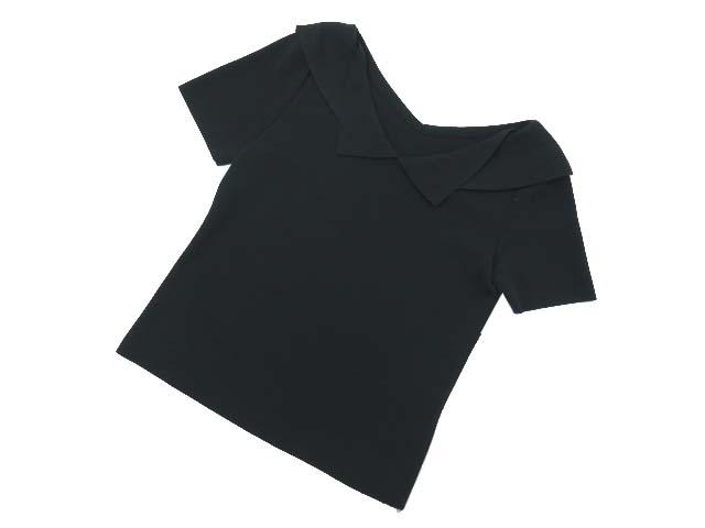 7/2(月)21:30から販売開始!!!FOXEY BOUTIQUE 36785 Portrait Collar Knit Top ブラックブラック 38 S1【中古】