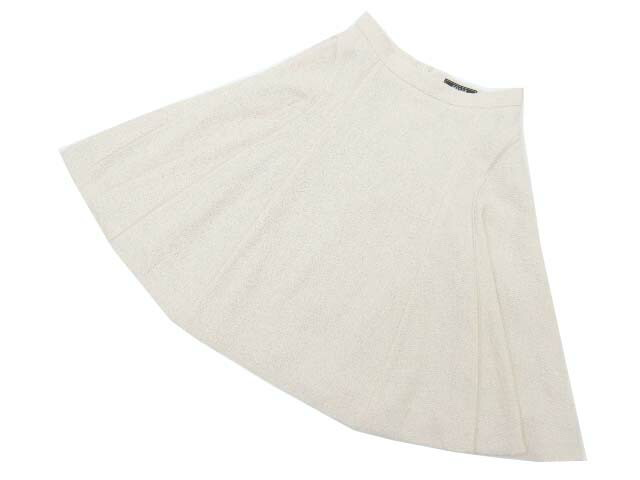 FOXEY BOUTIQUE 37623 Skirt(GRACE TWEED) ライトナチュラル 40 A1美品【中古】