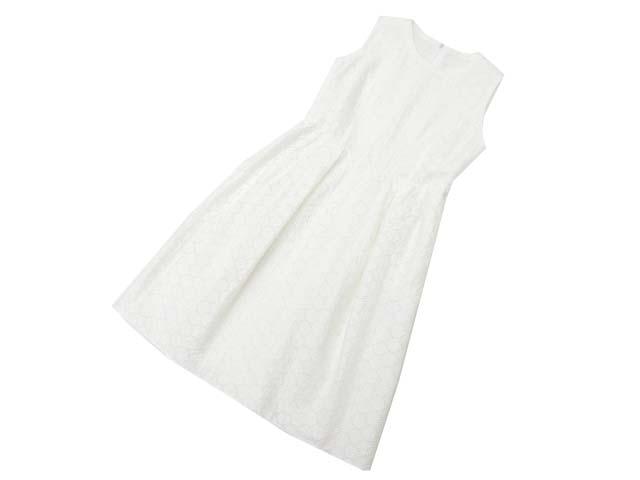 7/2(月)21:30から販売開始!!!FOXEY BOUTIQUE 36981 Dress(White Flower Lace) ホワイト 40 A1美品【中古】