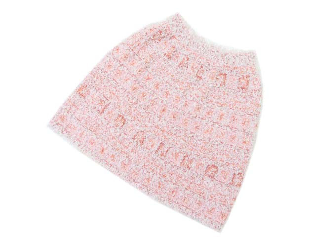CHANEL Skirt PINK×CORAL×MULTICO 40 S2【中古】