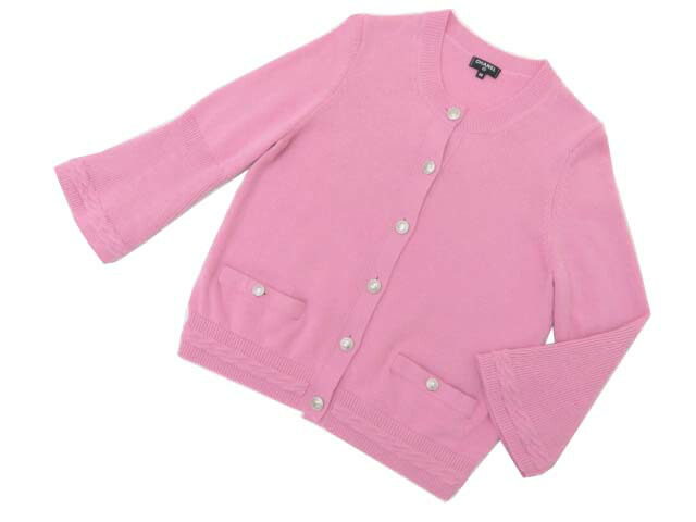 CHANEL CARDIGAN PINK 38 A1美品【中古】