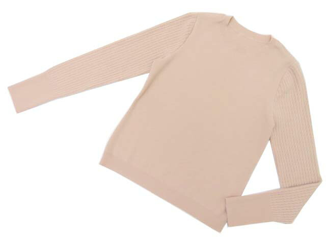 FOXEY BOUTIQUE 38835 Sweater ピンクベージュ 40 S1【中古】