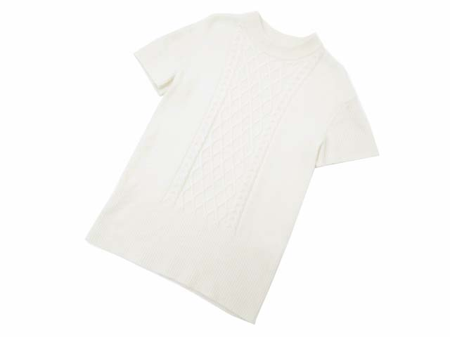 FOXEY NEW YORK COLLECTION Short Sleeve Fisherman Top ホワイト #F A1美品【中古】