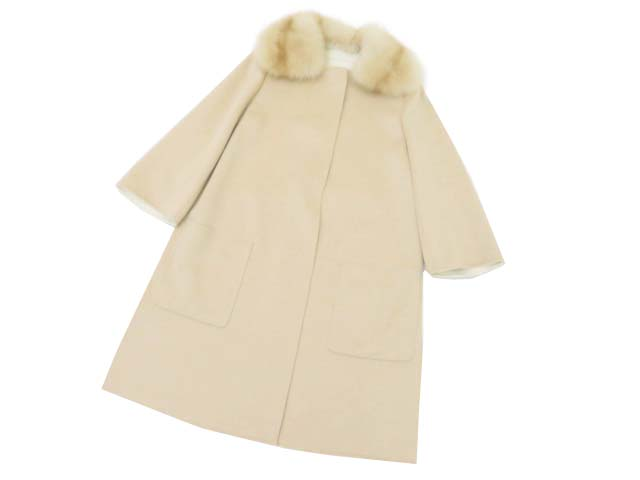 FOXEY BOUTIQUE 36143 Coat(Sainthonore) トップベージュ 38 A1【中古】