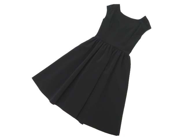 FOXEY NEW YORK 38334 Back Button Down Dress ブラック 38 A1【中古】