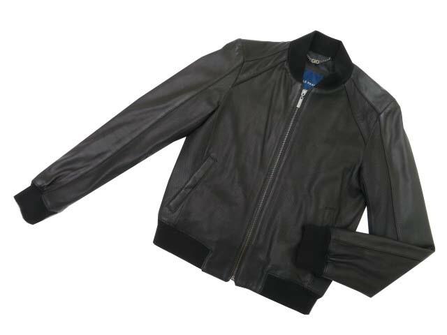 COLE HAAN レザージャケット ブラック XS A2【中古】