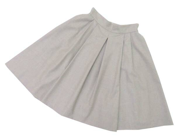 FOXEY BOUTIQUE 39372 Skirt(FLANNEL) ライトナチュラル 40 S1【中古】
