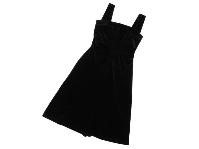 Daisy Velour by FOXEY NEW YORK 06033 Dress(RESORT EVENING) ベルベットブラック 40 A1【中古】