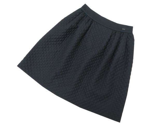FOXEY BOUTIQUE 36643 Skirt(Diagonal) ミッドナイトブルー 40 A1【中古】