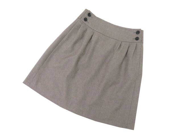 FOXEY BOUTIQUE 35151 Skirt(Twin Button) ダークナチュラル 38 A1【中古】