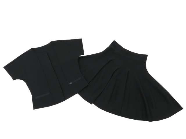 FOXEY BOUTIQUE 34588 ジャケット&スカート(Galette) ブラックブラック 40 A1美品 【中古】