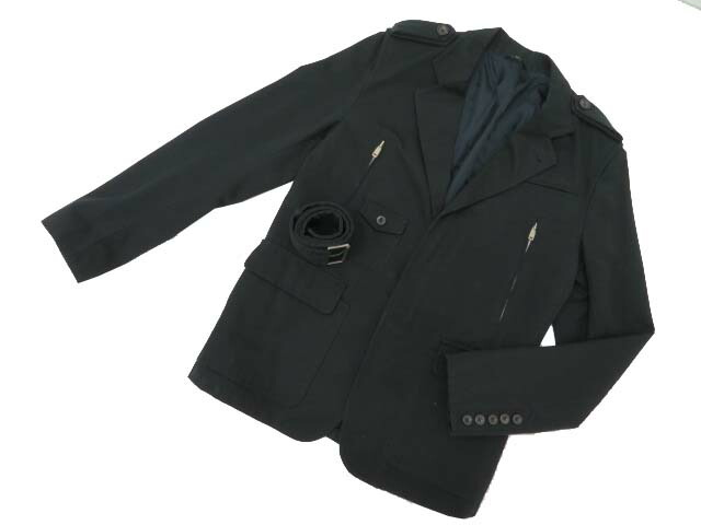 GUCCI メンズジャケットコート ブラック 48 A1【中古】