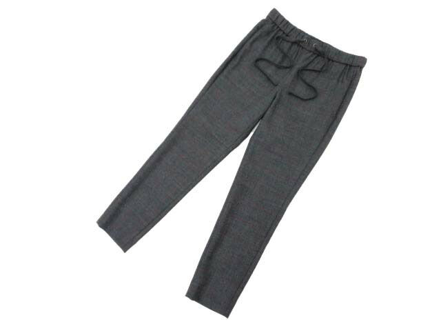 Theory Dark Currant Glencheck Pull on Pant グレー×ダークカラント XS A1美品【中古】