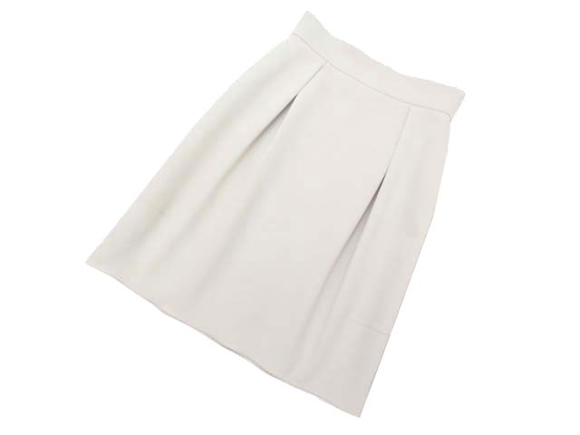 FOXEY NEW YORK 34898 Skirt(Two Tuck Balloon) ベージュ 42 A1【中古】